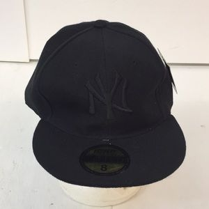 NWT ICAP Black NY Hat Cap Men's